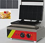 Hanchen Instrument NP-533 10pcs Commercial Waffle Maker Electric Waffle Machine No-stick Belgian Waffle Baker 110V/220V (Rectangle)