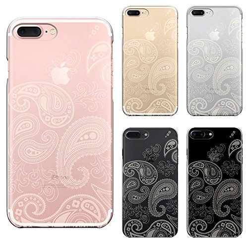 iPhone 7 Plus Shell Case Anti-Scratch Clear Back for iPhone 7 Plus 5.5 Inch CuVery Paisley pattern Light Yellow
