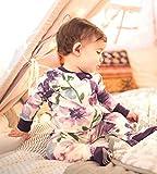 Burt's Bees Baby Girls Pajamas, Zip Front Non-Slip