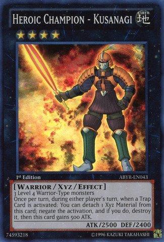 YU-GI-OH! - Heroic Champion - Kusanagi (ABYR-EN043) - Abyss Rising - Unlimited Edition - Super Rare