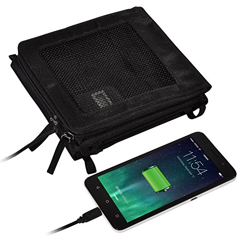 Solor Charger 10W Foldable Super Efficient Sunpower Solar Panel iPhone 7 / 6 Plus / iPad Air 2 / mini 3 / Xperia / Galaxy S6 / S6 Edge / Android Device (10w Folding Solar Charger)