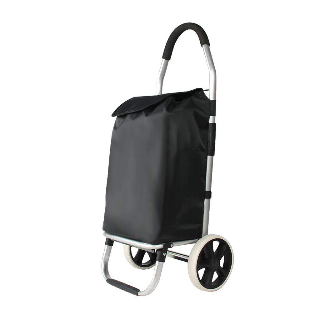 ショッピングカート大容量スーパー軽量ハンディホイールショッピング食料品トロリーバッグケース(メインコンパートメント、ホイール付き)  A B07NNBWYHH