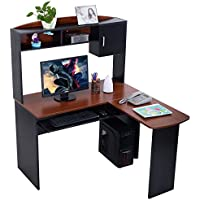 Corner Computer Desk L Shaped Workstation Home Office Student Furniture