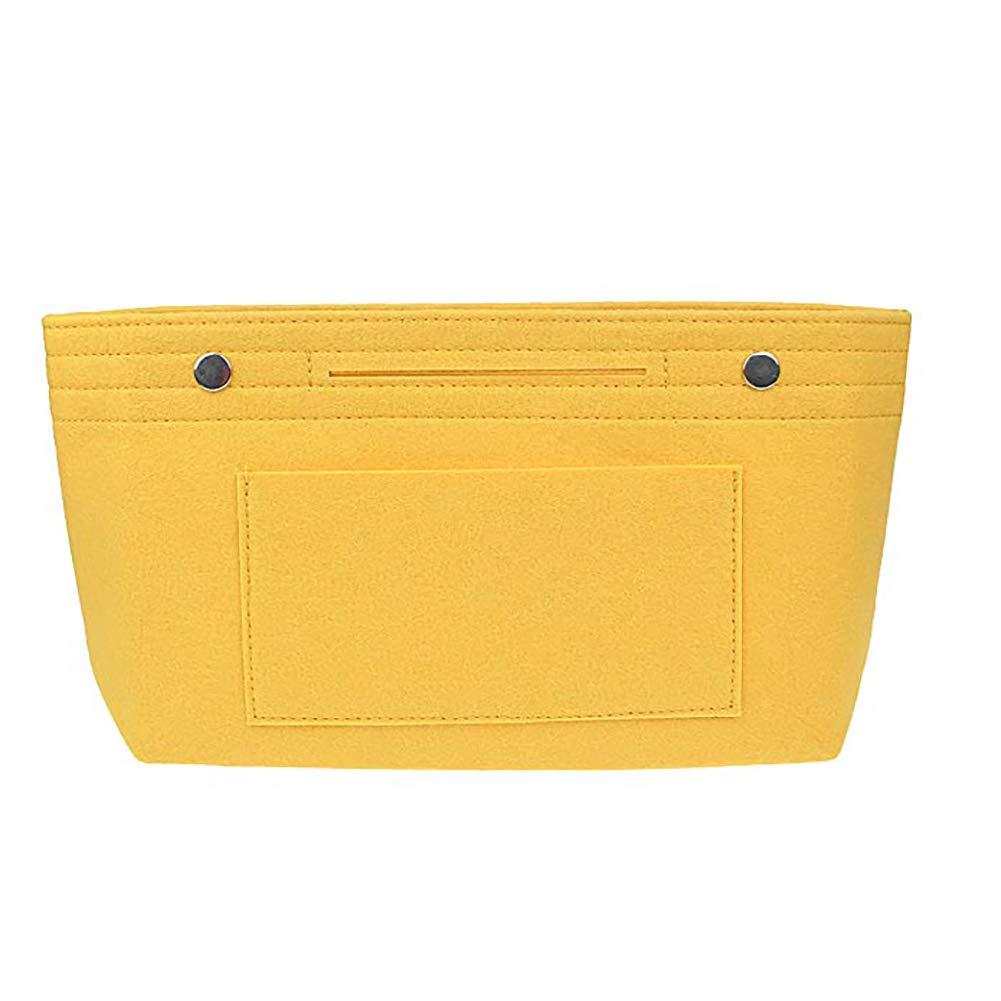 jaune 1pc feutre bourse Organisateur multifonction Sac dans le sac Organisateur cosm/étique de maquillage de stockage simple sac /à main design Insert fourre-tout