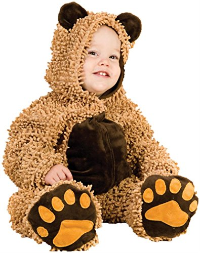24 Month Robin Halloween Costume (Princess Paradise Baby's Chenille Teddy Bear, Brown, 18 to 24)