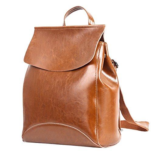 sac dos fille a fille college à voyage cuir Leathario femme en Sac sac Vert dos UwUadS