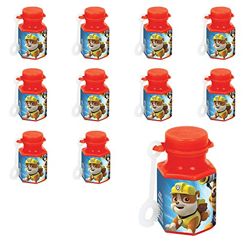 Party City Paw Patrol Mini Bubbles 48 Count, Birthday Party Favors for Kids, Non-Toxic, 0.6oz Bubble Solution