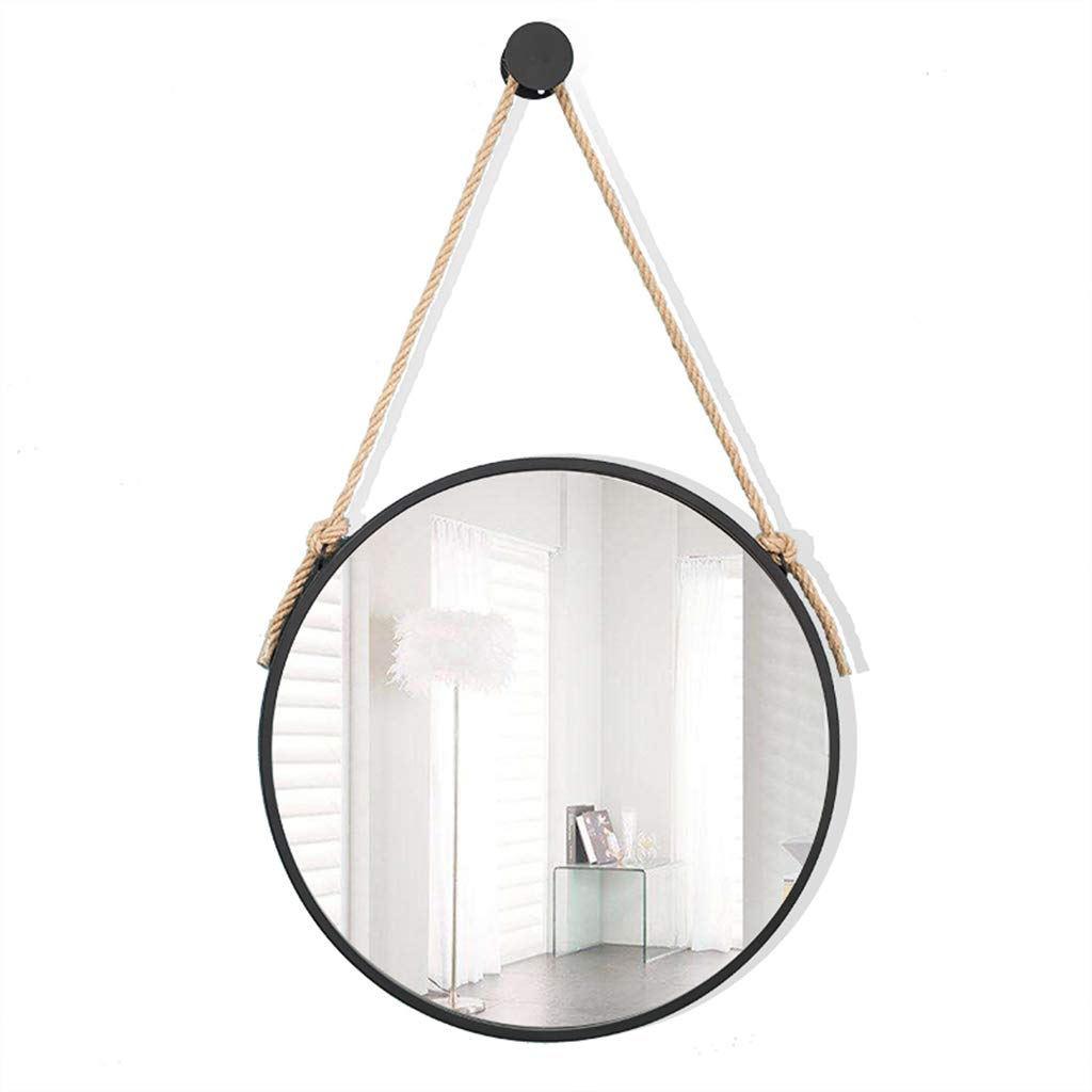 Specchi da Bagno in Metallo da Parete Specchi da Toilette Specchio Rotondo in Ferro Cosmetici da Parete Specchiera da Appendere per Soggiorno, Camera da Letto, 30-70cm Disponibile JJHOME-Specchi