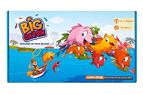 Logic Roots Big Catch Advanced Division Board Game Stem Toy Maths Resource - 13 Stems