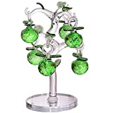 Crystal Apple Tree Decorative Artificial Tree Crystal Ornaments for Home Living Room Office Bar Desk Decoration Party Wedding Birthday Festival Green