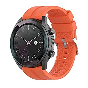 Silicone Watch Strap,Hamkaw 20mm/ 22mm Universal Sport Replacement Band Soft Watch Accessories for All Watches with 20mm/22mm Width Lug Orange