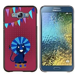EJOOY---Cubierta de la caja de protección para la piel dura ** Samsung Galaxy E7 E700 ** --Circo león