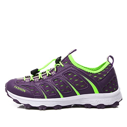 Breathable Sport Sneakers Slip Gomnear Summer Women on Purple Shoes pHdFTw