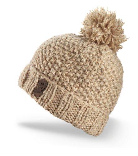 Fawn Beanie - Dakine Women's Maddy Hand Knit Beanie with Pom (Fawn, One Size)