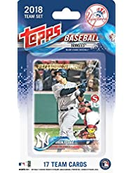 New York Yankees 2018 Topps Baseball EXCLUSIVE Special Limited Edition 17 Card Complete Team Set with AARON JUDGE, GIANCARLO STANTON,Gary Sanchez, Clint Frazier RC & Many More! WOWZZER