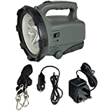 Ultrabright 360 Lumen Rechargeable 5W SMD LED Spotlight Torch Lantern with Mains AC and Car 12V DC Chargers - Equivalent to approx. 180 standard LED's or 5 million candle power!