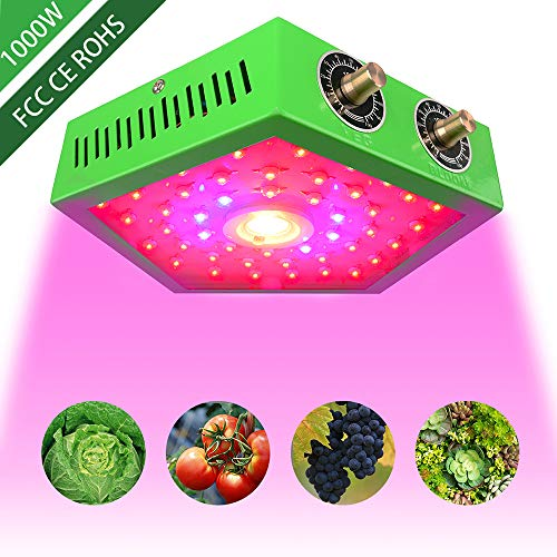 eovmosa LED Grow Light for Indoor Plants,Adjustable Full Spectrum Plant Light Growing Lamps,COB LED 1000W with Veg&Bloom Switch, Grow Veg and Flower Light Indoor for Greenhouse Basement Planting
