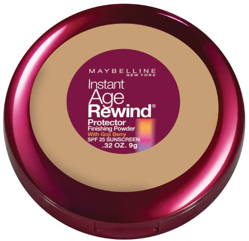 Maybelline New York Instant Age Rewind Protector Finishing Powder, Natural Beige, 0.32 Ounce