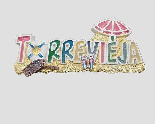 Torrevieja España 3d imán para nevera hogar y cocina, imán magnético de polirresina Torrevieja España nevera imán recuerdo turístico regalo (3): Amazon.es: Hogar