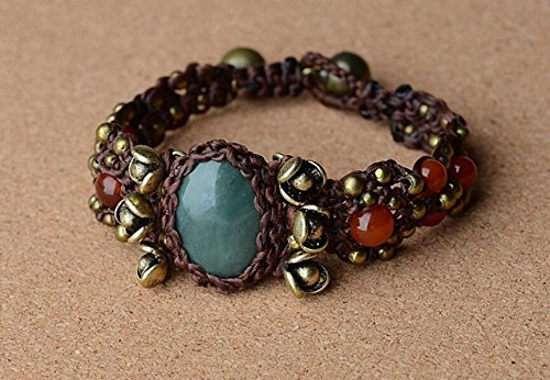Original Bohemian ethnic wind bracelet exquisite amber bells wax line