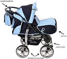 Kamil - Sistema de viaje 3 en 1, silla de paseo, carrito con ...