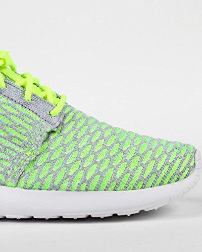 Nike Frauen Roshe One Flyknit Laufschuhe COPA / CHLOR BLAU / WEISS / REFLEKTIV SILV