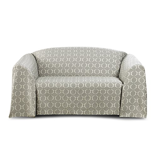 Stylemaster Home Products STYLEMASTER Flynn Woven Furniture Throw, LOVESEAT, Stone, Love Seat,