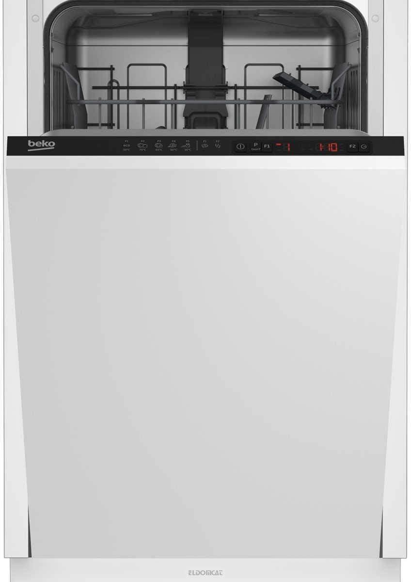 Beko DIS25010 lavavajilla Semi-incorporado 10 cubiertos A+ - Lavavajillas (Semi-incorporado, Blanco, Estrecho (45 cm), Negro, Botones, LCD)