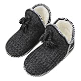 Women Girl Sherpa Fleece Warm Indoor Slippers Knit Bootie Socks Ankle Snow Boots