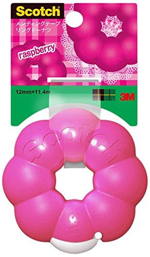 3M Scotch Ring Donut Tape Dispenser - Raspberry Pink - 12 mm X 11.4 m 810RI-RA