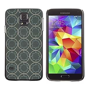 LECELL--Funda protectora / Cubierta / Piel For Samsung Galaxy S5 SM-G900 -- Wallpaper Pattern Rustic Grey Gray --