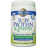 Garden of Life Greens and Protein Powder - Organic Raw Protein and Greens with Probiotics/Enzymes, Vegan, Gluten-Free, Vanilla, 19.3oz (1lb 3 oz/548g) Powder