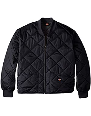 Men's Big Diamond Quilted Nylon Jacket