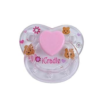 Magnet Pacifier for Reborn Newborn Baby Dolls Handmade Magnetic Nipple  Dummy Cradle Pink