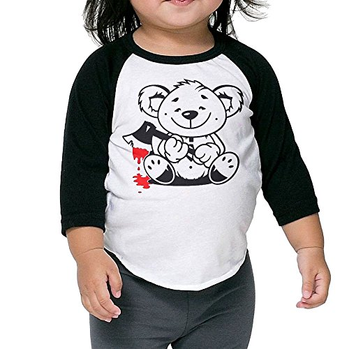 [Bear Bloody Kid's Sleeve Raglan Clothes Unisex 2 Toddler Beautiful] (Bloody Valentine Costume)