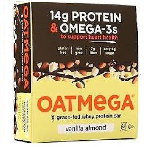 Oatmega Wellness Bars – Vanilla Almond Crisp – 12 ct, 21.6 oz For Sale
