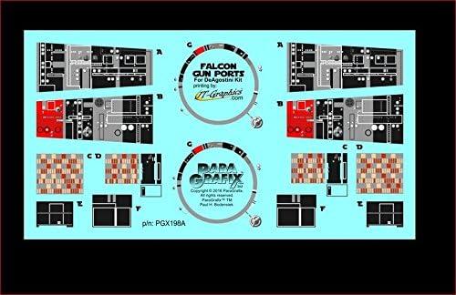 ParaGrafix PGX198 DeAgostini Falcon Gun Ports Photoetch Set