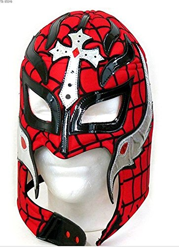Del Mex Lycra Lucha Libre Adult Luchador Mexican Wrestling Mask Costume (Rey Mysterio (Rey Mysterio Costumes)