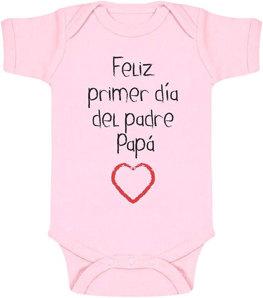 Body de Manga Corta para bebé - Regalo Padre Bebe - Feliz Primer Día del Padre -