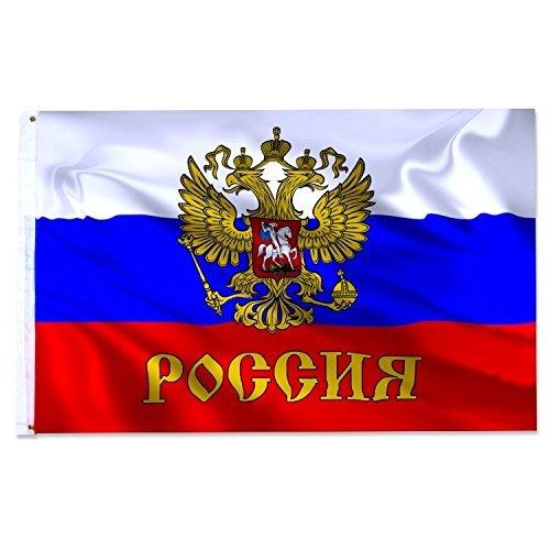 2 opinioni per Stemma aquila Russia Bandiera, 150 x 90 cm