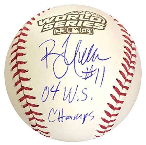 Autographed 2004 World Series Baseball - Bill Mueller
