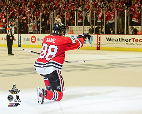 "Patrick Kane Chicago Blackhawks Goal Celebration Game 6 2015 Stanley Cup® Finals (Size: 8"" x 10"")"