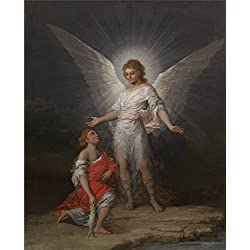 Polyster Canvas ,the High Quality Art Decorative Canvas Prints Of Oil Painting 'Goya Y Lucientes Francisco De Tobias Y El Angel Ca. 1787 ', 24 X 30 Inch / 61 X 76 Cm Is Best For Bedroom Decor And Home Decor And Gifts