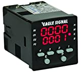 Eagle Signal Multifunction LED Timer with Relay Outputs, compact size, multiple timing functions, easy to program, surface or panel mount, part # B506-5001