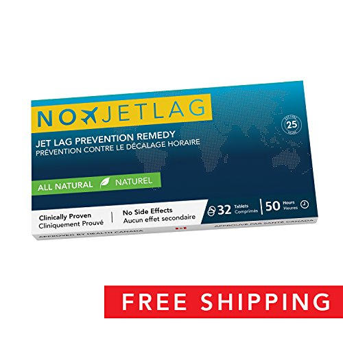 No Jet Lag Homeopathic Jet Lag (2018 Edition) - Jet Lag Prevention & Relief for Long Distance Flights | Fly Smarter | All Natural Supplement | Airplane Accessories | No Jet Lag | 32 Tablets - Jet No Lag Ingredients