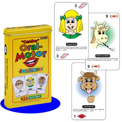 Super Duper Publications Can Do Oral-Motor Fun Deck Flash Cards Educational Learning Resource for Children (Speech Therapy Exercises For Children At Home)