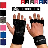 LEBBOULDER Workout Gloves - Weight lifting gloves with Wrist Support for Fitness, WOD, Gym Cross Training & Powerlifting - Silicone Padding to avoid Calluses - Suits both Men & Women, Strong Grip