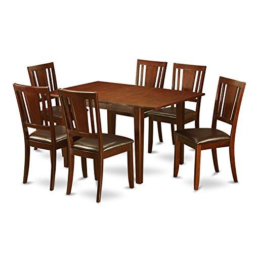East West Furniture PSDU7-MAH-LC 7-Piece Kitchen Table Set Review