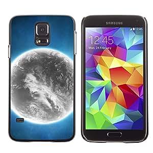 Smartphone Rígido Protección única Imagen Carcasa Funda Tapa Skin Case Para Samsung Galaxy S5 SM-G900 Grey Planet Alien World Art Bright Atmosphere / STRONG
