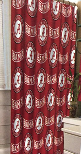 NCAA University of Alabama Decorative Bath Collection - Shower Curtain - Large Ncaa Bath